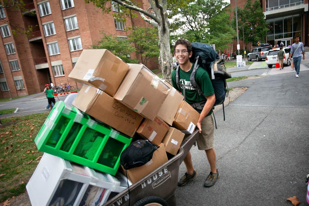 student moves in Birmingham